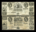 Canadian Currency: , Montreal, LC- The Mechanics Bank $5, $10 June 1, 1837 Ch. #435-10-04, 435-10-06. ... (Total: 2 notes)