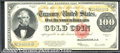 Large Size Gold Certificates:Large Size, 1922 $100 Gold Certificate, Fr-1215, Gem CU. We love this note ...