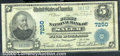 National Bank Notes:West Virginia, First National Bank of Salem, WV, Charter #7250. 1902 $5 Third ...