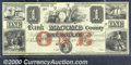 Obsoletes By State:Michigan, $1, The Bank of Macomb County, Mt Clemens, MI, 4/1/1858, AU. Be...