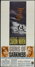 "Movie Posters:Drama, Guns of Darkness (Warner Brothers, 1962). Three Sheet (41"" X 81""). Drama...."