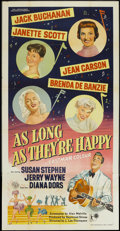 "Movie Posters:Musical, As Long as They're Happy (GFD, 1955). British Three Sheet (40"" X78""). Musical...."