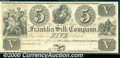 Obsoletes By State:Ohio, $5, The Franklin Silk Company, Franklin, Portage Co, OH, AU. A ...