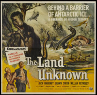 "The Land Unknown (Universal, 1957). Six Sheet (81"" X 81""). Science Fiction"