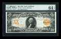 Large Size:Gold Certificates, Fr. 1182 $20 1906 Gold Certificate PMG Choice Uncirculated 64EPQ....