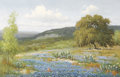 Fine Art - Painting, American:Contemporary   (1950 to present)  , PALMER CHRISMAN (American, 20th Century). Untitled (Bluebonnetsand Cactus). Oil on canvas. 24 x 36 inches (61.0 x 91.4 ...