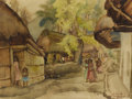 Texas:Early Texas Art - Regionalists, JOHN ORTH (1889-1976). Tamazunchale Mexico. Watercolor.18.5in. x 25in.. Signed and titled lower right. Tamazunchale i...