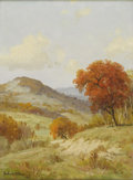 Texas:Early Texas Art - Impressionists, PORFIRIO SALINAS (1910-1973). Untitled Hill Country in Autumn,1956. Oil on canvas. 16in. x 12in.. Signed and dated lower le...