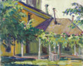 Texas:Early Texas Art - Regionalists, LLOYD GOFF (1908-1982). Courtyard, late 1920s to early1930s. Oil on canvasboard. 10in. x 12in.. Unsigned, accompaniedb...