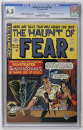 Golden Age (1938-1955):Horror, Haunt of Fear #16 (#2) (EC, 1950) CGC FN+ 6.5 Off-white pages. TheOld Witch makes her first appearance as hostess of the ti...