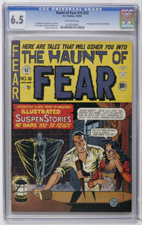 Haunt of Fear #16 (#2) (EC, 1950) CGC FN+ 6.5 Off-white pages. The Old Witch makes her first appearance as hostess of th...