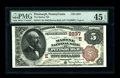 National Bank Notes:Pennsylvania, Pittsburgh, PA - $5 1882 Brown Back Fr. 474 The Marine NB Ch.#(E)2237. This serial number 2-A Brown Back possesses brig...