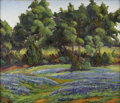 Texas:Early Texas Art - Regionalists, FLORENCE MCCLUNG (1894-1992). Untitled Bluebonnet Landscape,1930s to 1940s. Oil on canvas. 20 x 24 inches (50.8 x 6...
