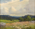 Paintings, ROBERT WOOD (1889-1979). Untitled Hill Country Fence Line, 1930s. Oil on canvas. 20in. x 24in.. Signed lower right. This H...