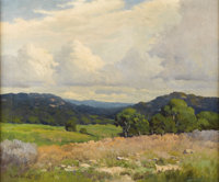 ROBERT WOOD (1889-1979) Untitled Hill Country Fence Line, 1930s Oil on canvas 20in. x 24in. Signed lower right  This H...