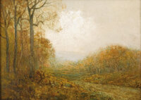 JULIAN ONDERDONK (1882-1922) November Afternoon, 1909 Oil on plywood 9in. x 12in. Signed lower left Signed, dated