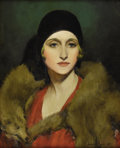 Texas:Early Texas Art - Impressionists, HOWARD THAIN (1891-1959). Claire, 1929. Oil on canvas. 20in.x 16in.. Signed and dated lower right. Signed, dated, and t...