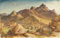 Paintings, LLOYD GOFF (1908-1982). Untitled New Mexico Highway, 1940. Tempera. 13 3/4in. x 22in.. Signed and dated lower right. This ...