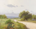 Texas:Early Texas Art - Impressionists, PORFIRIO SALINAS (1910-1973). Untitled Caliche Road with Post Oakand Prickly Pear. Oil on canvas. 24in. x 30in.. Signed low...