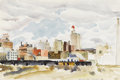 Texas:Early Texas Art - Regionalists, ARTINE SMITH (1903-1990). Untitled Downtown Dallas, 1943.Watercolor. 12in. x 18in.. Unsigned. A great view of downtown Da...