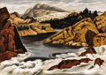 Texas:Early Texas Art - Regionalists, WILLIAM LESTER (1910-1992). Rushing River, 1941. Oil onmasonite. 24in. x 32in.. Signed and titled verso. A natural ta...
