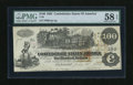 Confederate Notes:1862 Issues, T39 $100 1862. Just a trace of handling on this delightful $100.PMG Choice About Unc 58 EPQ....