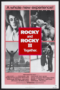 """Rocky/Rocky II Combo (United Artists, R-1980). One Sheet (27"""" X 41""""). Sports Drama. Starring Sylvester Stallon..."""