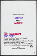 """Movie Posters:Comedy, Harold and Maude (Paramount, 1971). One Sheet (27"""" X 41""""). Comedy. Starring Ruth Gordon, Bud Cort, Vivian Pickles, Cyril Cus..."""
