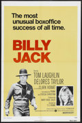 "Movie Posters:Action, Billy Jack (Warner Brothers, R-1973). One Sheet (27"" X 41""). Drama.Starring Tom Laughlin, Delores Taylor, Clark Howat, Bert..."
