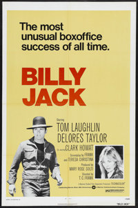 "Billy Jack (Warner Brothers, R-1973). One Sheet (27"" X 41""). Drama. Starring Tom Laughlin, Delores Taylor, Cla..."