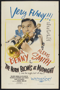 "The Horn Blows at Midnight (Warner Brothers, 1945). One Sheet (27"" X 41""). Fantasy Comedy. Starring Jack Benny..."
