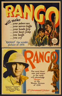 "Rango (Paramount, 1931). Lobby Cards (2) (11"" X 14""). Jungle Adventure. Starring Claude King and Douglas Scott..."