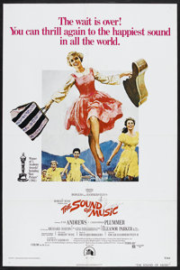 "The Sound Of Music (20th Century Fox, R-1973). One Sheet (27"" X 41""). Musical. Starring Julie Andrews, Christo..."