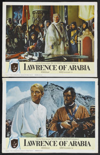"Lawrence of Arabia (Columbia, 1962). Lobby Cards (2) (11"" X 14""). Historical Drama. Starring Peter O'Toole, Al..."