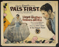 """Movie Posters:Drama, Pals First (First National, 1926). Title Lobby Card (11"""" X 14"""").Drama. Starring Lloyd Hughes, Delores del Rio, George Coope..."""