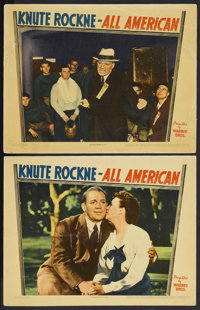 """Knute Rockne - All American (Warner Brothers, 1940). Lobby Cards (2) (11"""" X 14""""). Sports Biography. Starring P..."""