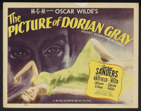 """The Picture of Dorian Gray (MGM, 1945). Title Lobby Card (11"""" X 14""""). Horror. Starring George Sanders, Hurd Ha..."""