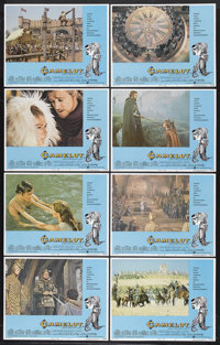 """Camelot (Warner Brothers, R-1973). Lobby Card Set of 8 (11"""" X 14"""") and Pressbook (Multiple Pages). Romantic Mu..."""