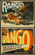 "Movie Posters:Adventure, Rango (Paramount, 1931). Lobby Cards (2) (11"" X 14""). JungleAdventure. Starring Claude King and Douglas Scott. Directed by ...(Total: 2 Items)"