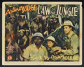 "Movie Posters:Adventure, Law of the Jungle (Monogram, 1942). Title Lobby Card (11"" X 14"").War Adventure. Starring Mantan Moreland, Arline Judge, Joh..."