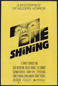 "The Shining (Warner Brothers, 1980). One Sheet (27"" X 41""). Horror. Starring Jack Nicholson, Shelley Duvall, S..."