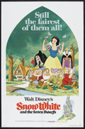 "Movie Posters:Animated, Snow White and the Seven Dwarfs (Buena Vista, R-1975). One Sheet(27"" X 41""). Animated Fairy Tale. Starring the voices of Ad..."
