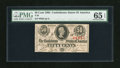 Confederate Notes:1863 Issues, T63 50 Cents 1863. Bold serial number embossing is found on this PMG Gem Uncirculated 65 EPQ note. This is probably the ...