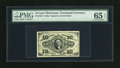 Fractional Currency:Third Issue, Fr. 1255 10c Third Issue PMG Gem Uncirculated 65 EPQ This gorgeous green back variety has three huge margins, but comes up a...