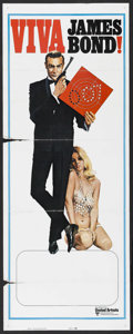 "Movie Posters:James Bond, Viva James Bond (United Artists, R-1970s). International StockInsert (14"" X 36""). ""Viva"" was a re-release campaign in the e..."