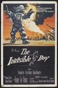 "Movie Posters:Science Fiction, The Invisible Boy (MGM, 1957). One Sheet (27"" X 41""). ScienceFiction. Starring Richard Eyer, Philip Abbott, Diane Brewster ..."
