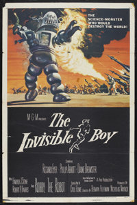 "The Invisible Boy (MGM, 1957). One Sheet (27"" X 41""). Science Fiction. Starring Richard Eyer, Philip Abbott, D..."
