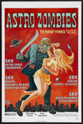 "Movie Posters:Science Fiction, The Astro-Zombies (Jack Harris Enterprises, R-1971). One Sheet (27""X 41""). Science Fiction. Starring Wendell Corey and John..."