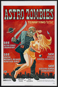 "The Astro-Zombies (Jack Harris Enterprises, R-1971). One Sheet (27"" X 41""). Science Fiction. Starring Wendell..."