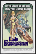 "Movie Posters:Horror, Lady Frankenstein (New World Pictures, 1972). One Sheet (27"" X 41""). Horror. Starring Joseph Cotten, Sarah Bay, Mickey Hargi..."